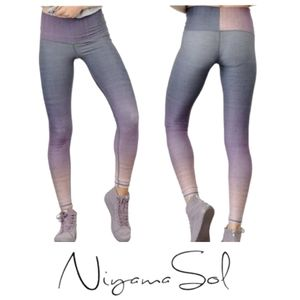 NIYAMA SOL Magic Hour Barefoot Ombre Leggings Recycled Fabric Sustainable